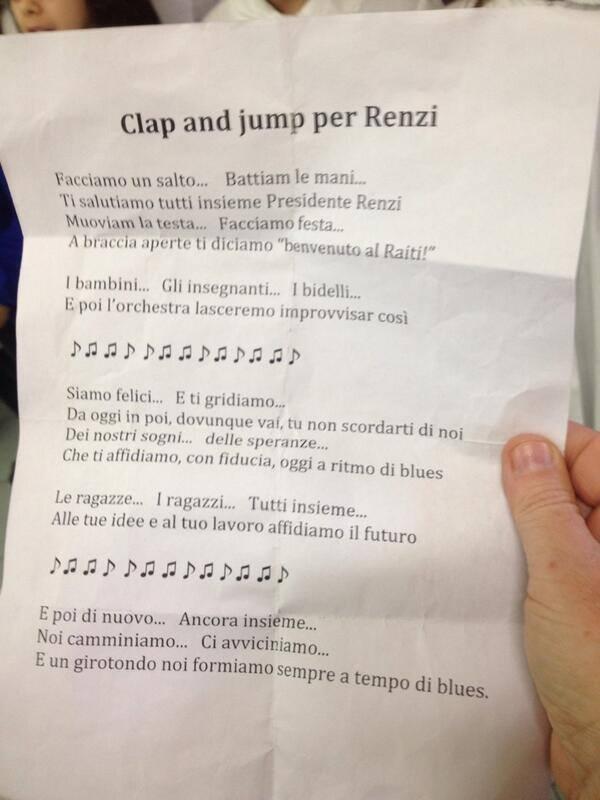 Clap and jump per Renzi